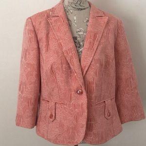 🆕 Worthington Coral 3/4 Sleeve Blazer 18